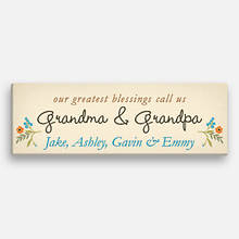 Greatest Blessings Personalized Canvas