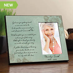 Floral Personalized Memorial Frame