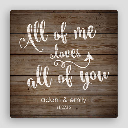 Personalized Love All Of You Canvas