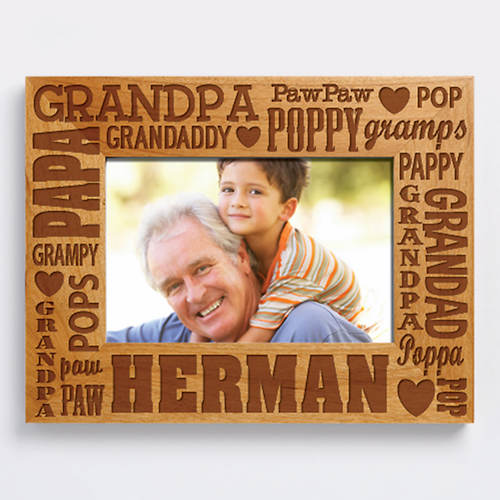 Personalized Wood Frame-Grandpa