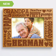 Personalized Wood Frame-Grandpa