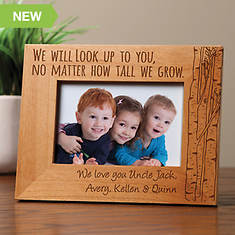 Personalized Wood Frame-We Look Up To You