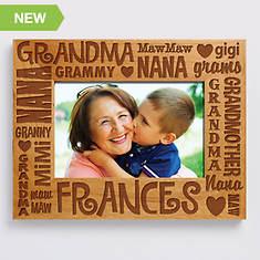 Personalized Wood Frame-Grandma