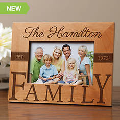 Personalized Wood Frame-Family