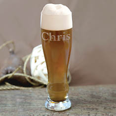 Personalized Pilsner Beer Glasses