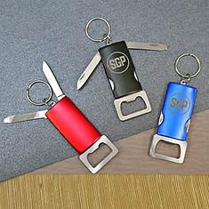 Personalized Bottle Opener Key Chain-Black