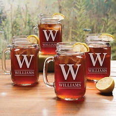 Personalized Mason Jar Glass Set