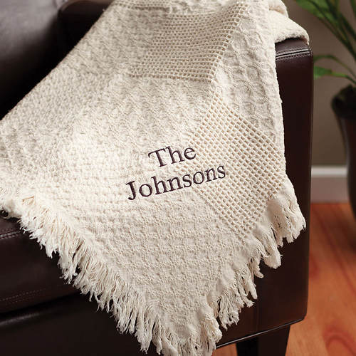 Personalized Woven Throw-Family