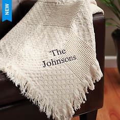 Personalized Family Names Woven Throw