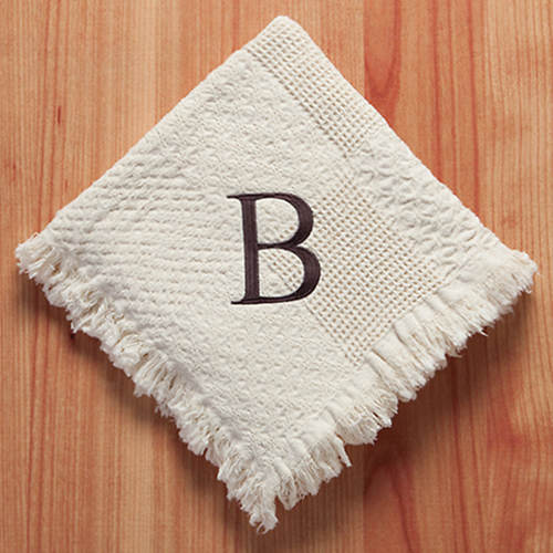 Personalized Woven Throw-Initial