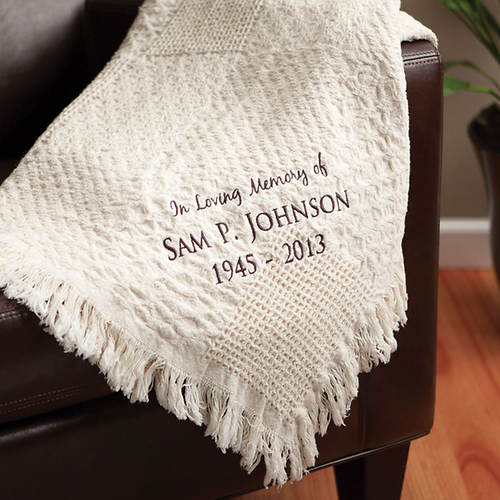 Personalized Memorial Woven Throw