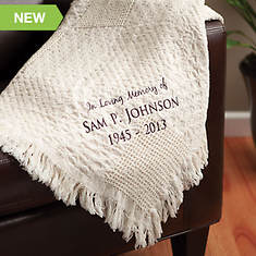 Personalized Woven Throw-Memorial
