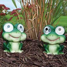 Smart Solar Garden Pals-Set of 2-Frog