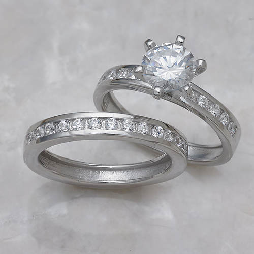 Round Channel Wedding Set