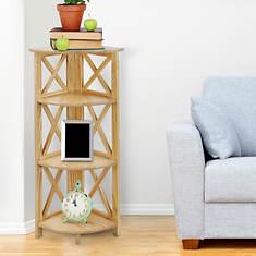Casual Home Montego 3-Shelf Corner Folding Bookcase