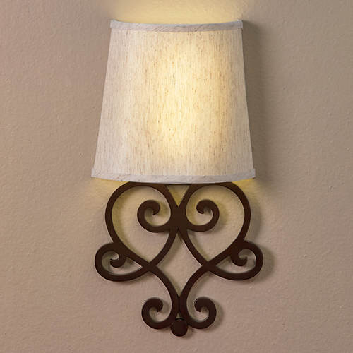 Anywhere LED Sconce-Heart Scroll