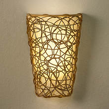 Anywhere LED Sconce-Wicker