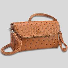 6 Pocket Clutch/Shoulder Bag-Camel
