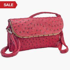 6 Pocket Clutch/Shoulder Bag-Red