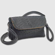 6 Pocket Clutch/Shoulder Bag-Black