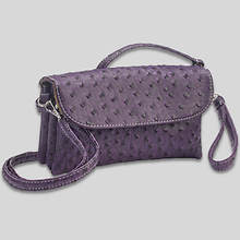 6 Pocket Clutch/Shoulder Bag-Purple