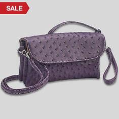 6 Pocket Clutch/Shoulder Bag-Purple
