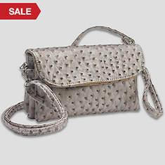 6 Pocket Clutch/Shoulder Bag-Champagne