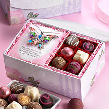 Keepsake Box & Chocolates w/Necklace