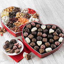 Heart Box Sampler - Milk Chocolate and Nut