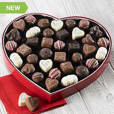 Heart Box Sampler - Milk Chocolate
