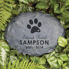 Personalized In Loving Memory Garden Stone-Beloved Dog