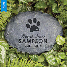 Personalized In Loving Memory Garden Stone - Beloved Dog