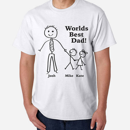 Personalized World's Best Dad Tee-2 Kids