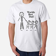 Personalized World's Best Dad Tee-3 Kids