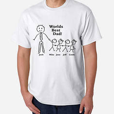 Personalized World's Best Dad Tee-4 Kids