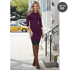 Elbow Sleeve T-Shirt Dress