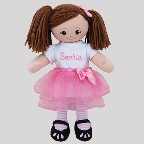 Personalized Ballerina Doll-Brunette