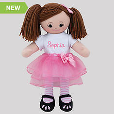 Personalized Ballerina Doll-Brunette