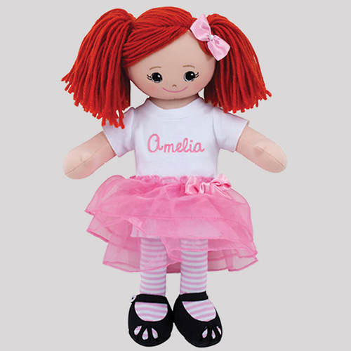 Personalized Ballerina Doll-Red Head
