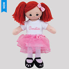 Personalized Redhead Ballerina Doll