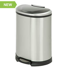Honey-Can-Do Stainless Steel Half Moon Step Trash Can