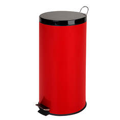 Honey-Can-Do 30L Round Steel Step Trash Can