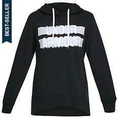 Under Armour Women's Favorite Fleece Hoodie-Wordmark Graphic