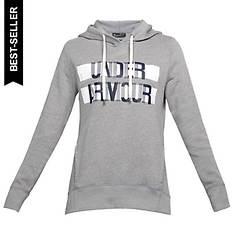 Under Armour Women's Favorite Fleece Hoodie-Wordmark Graphic