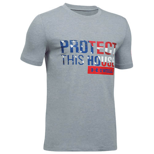 Under Armour Boys' Freedom Protect This House Short Sleeve Tee