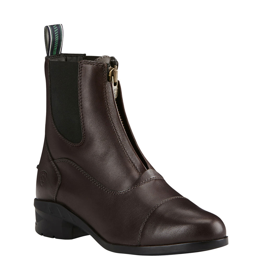 Vintage Boots, Retro Boots Ariat Heritage IV Zip Paddock Womens Brown Boot 8 B $139.95 AT vintagedancer.com
