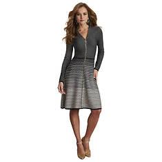 Zip-Up Sweater Dress