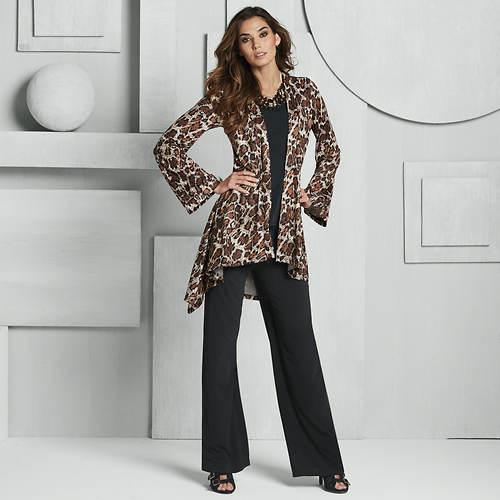Leopard High-Low Pant Set