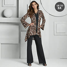 Leopard High-Low Pant Set