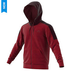 adidas Men's Team Issue Fleece Full-Zip Hoodie